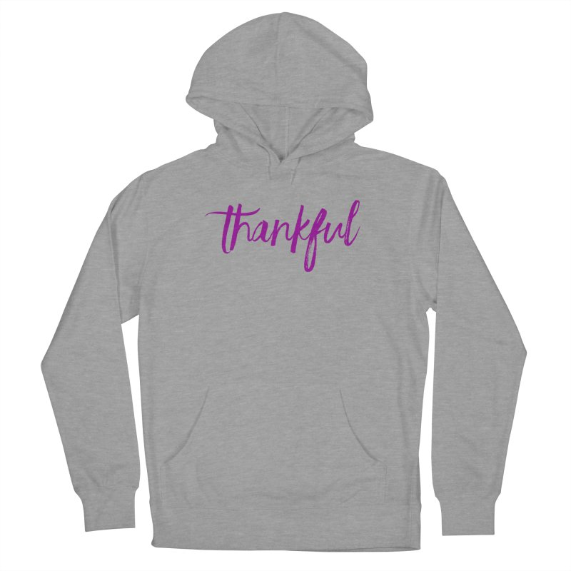 Thankful Women's French Terry Pullover Hoody by Crystalline Light