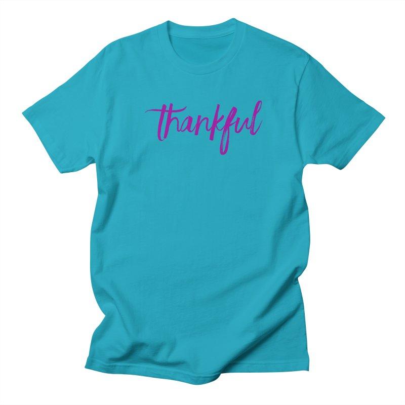 Thankful Men's Regular T-Shirt by Crystalline Light