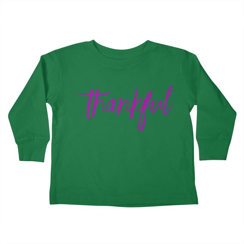 Thankful Kids Toddler Longsleeve T-Shirt by Crystalline Light