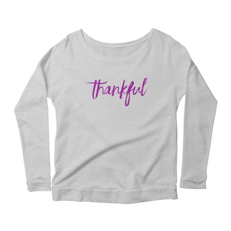 Thankful Women's Scoop Neck Longsleeve T-Shirt by Crystalline Light