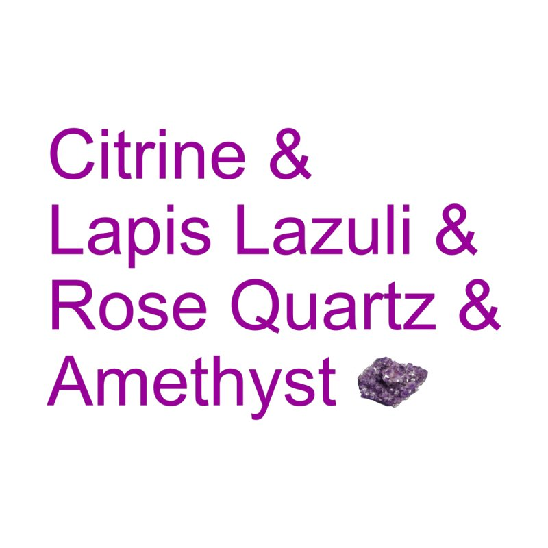 Citrine & Lapis Lazuli & Rose Quartz & Amethyst Kids Baby Bodysuit by Crystalline Light