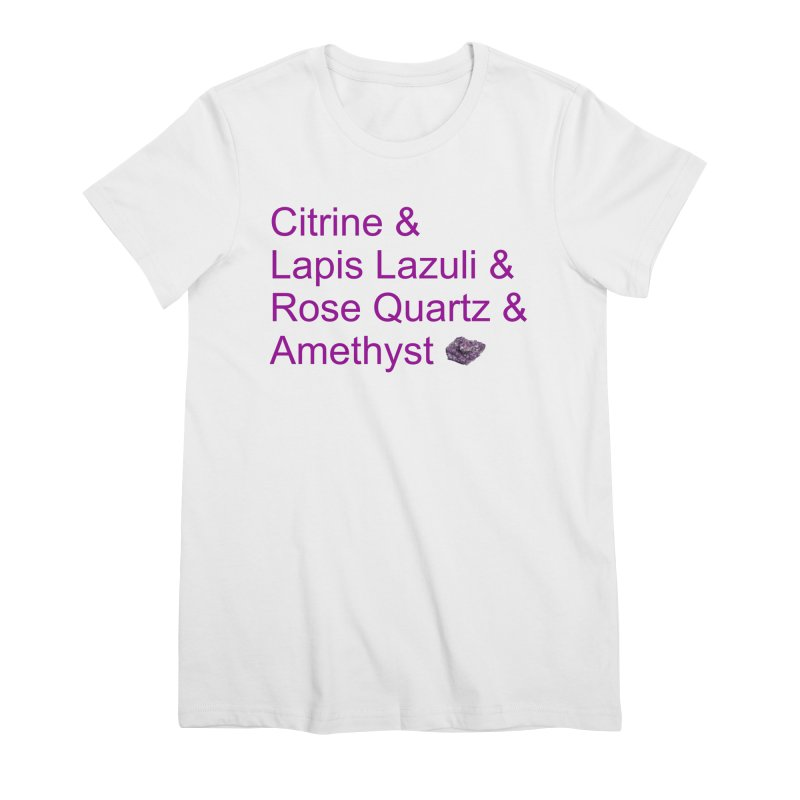 Citrine & Lapis Lazuli & Rose Quartz & Amethyst Women's Premium T-Shirt by Crystalline Light