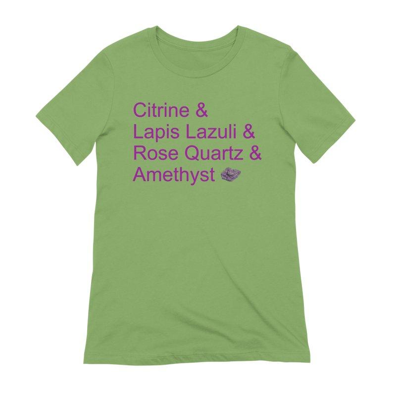 Citrine & Lapis Lazuli & Rose Quartz & Amethyst Women's Extra Soft T-Shirt by Crystalline Light