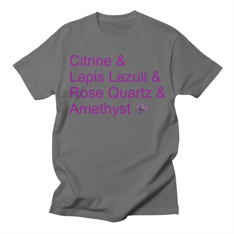 Citrine & Lapis Lazuli & Rose Quartz & Amethyst Men's T-Shirt by Crystalline Light
