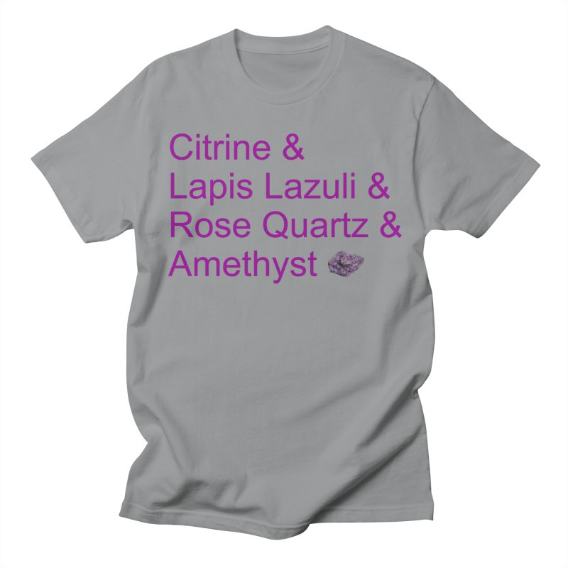 Citrine & Lapis Lazuli & Rose Quartz & Amethyst Men's Regular T-Shirt by Crystalline Light
