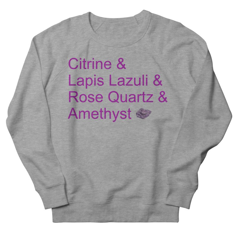 Citrine & Lapis Lazuli & Rose Quartz & Amethyst Men's French Terry Sweatshirt by Crystalline Light