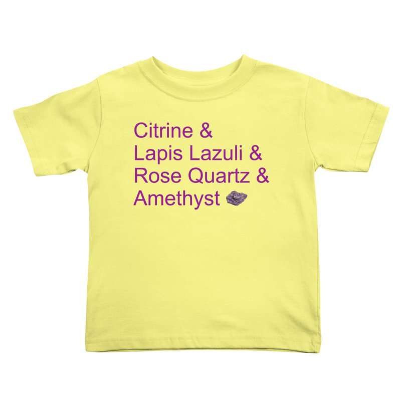 Citrine & Lapis Lazuli & Rose Quartz & Amethyst Kids Toddler T-Shirt by Crystalline Light