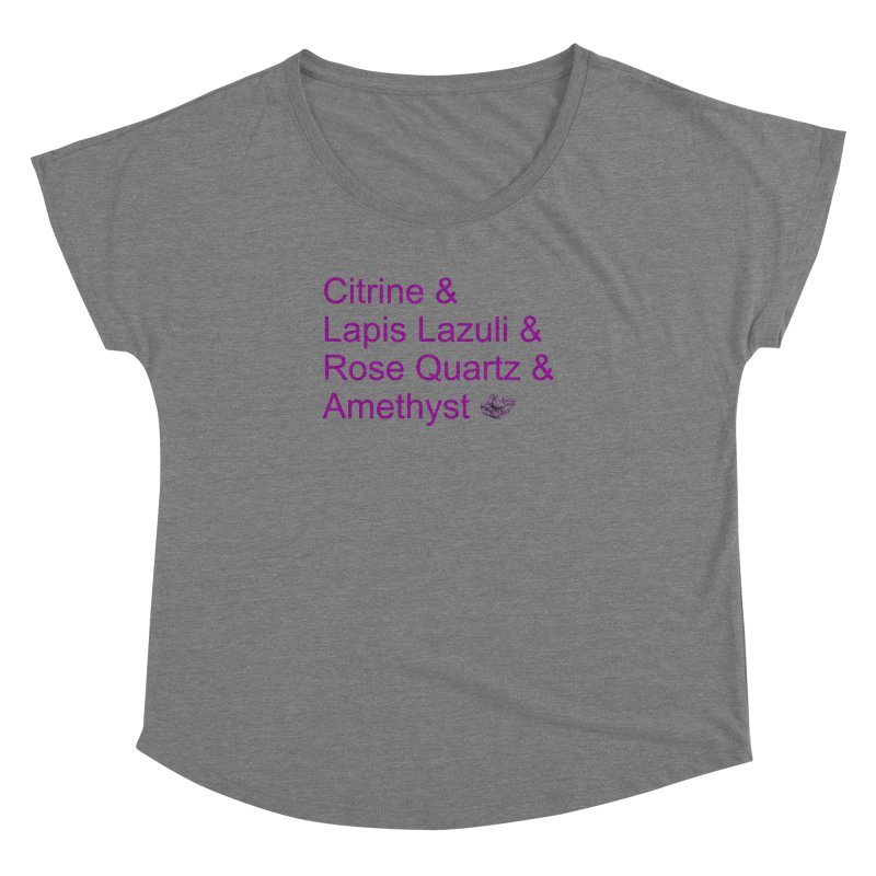 Citrine & Lapis Lazuli & Rose Quartz & Amethyst Women's Scoop Neck by Crystalline Light