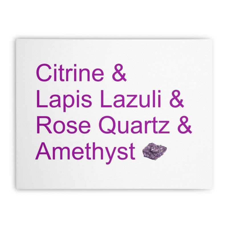 Citrine & Lapis Lazuli & Rose Quartz & Amethyst Home Stretched Canvas by Crystalline Light