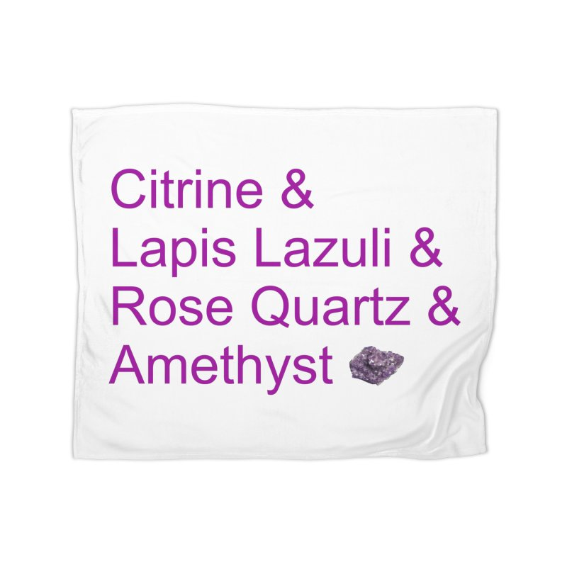 Citrine & Lapis Lazuli & Rose Quartz & Amethyst Home Fleece Blanket Blanket by Crystalline Light