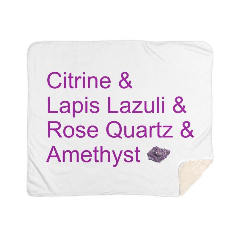 Citrine & Lapis Lazuli & Rose Quartz & Amethyst Home Blanket by Crystalline Light
