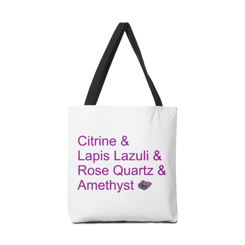 Citrine & Lapis Lazuli & Rose Quartz & Amethyst Accessories Bag by Crystalline Light