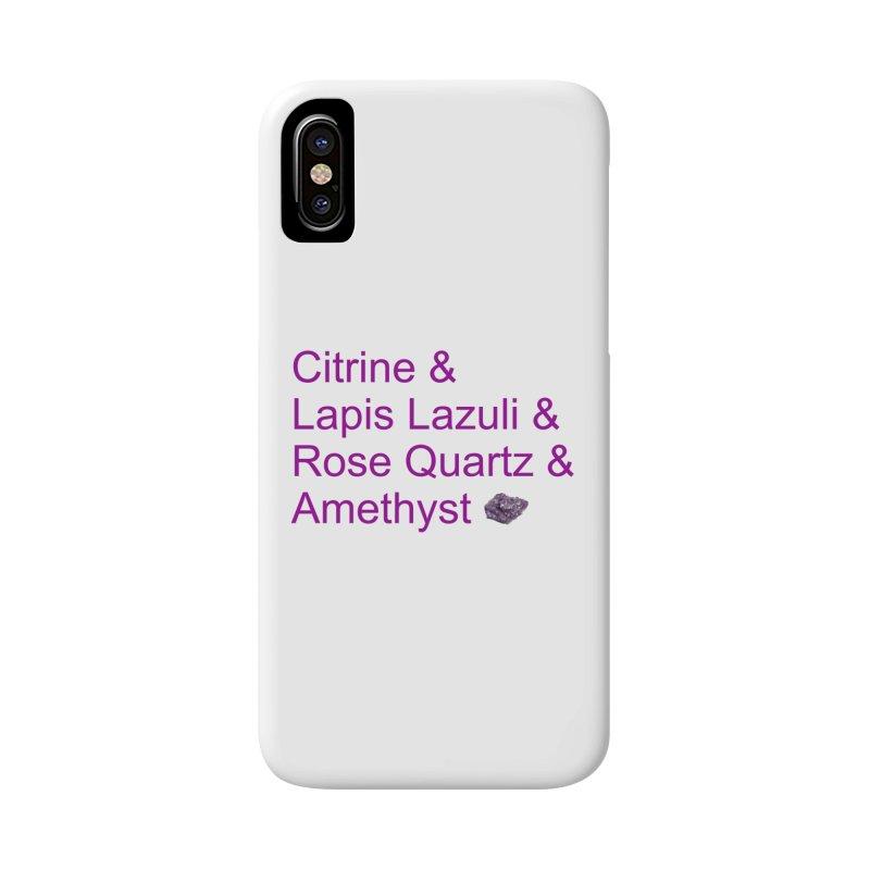 Citrine & Lapis Lazuli & Rose Quartz & Amethyst in iPhone X / XS Phone Case Slim by Crystalline Light
