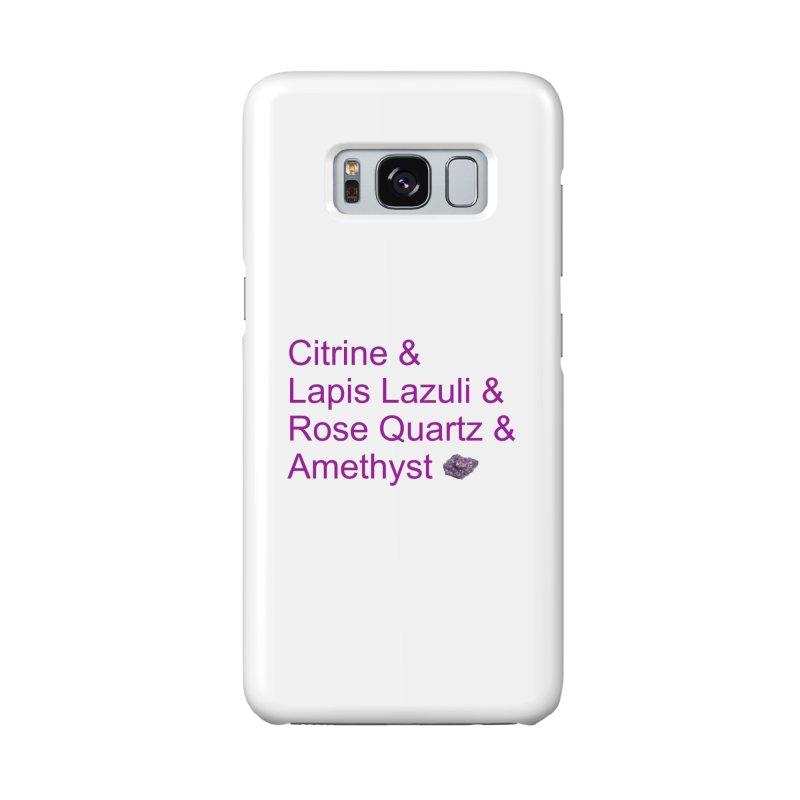 Citrine & Lapis Lazuli & Rose Quartz & Amethyst Accessories Phone Case by Crystalline Light