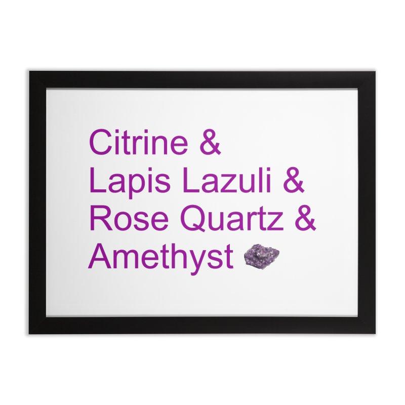 Citrine & Lapis Lazuli & Rose Quartz & Amethyst Home Framed Fine Art Print by Crystalline Light