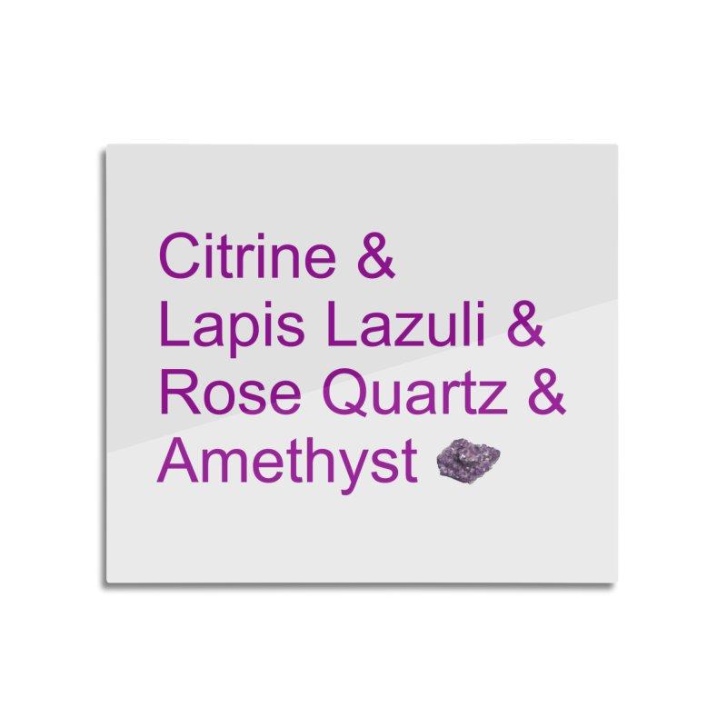 Citrine & Lapis Lazuli & Rose Quartz & Amethyst Home Mounted Acrylic Print by Crystalline Light