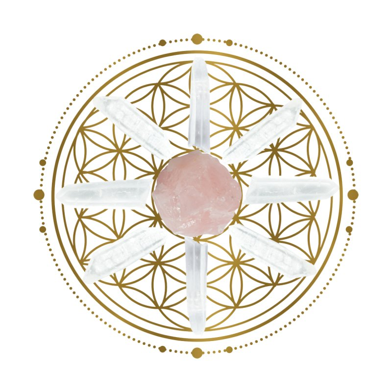 Flower of Life Love Crystal Grid Accessories Sticker by Crystalline Light