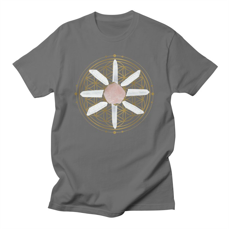Flower of Life Love Crystal Grid Women's T-Shirt by Crystalline Light