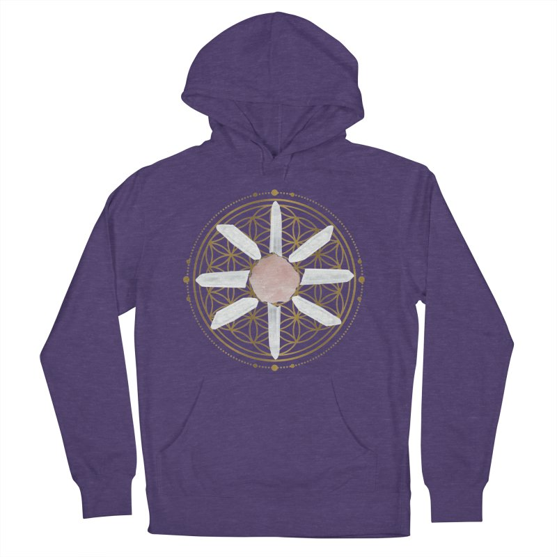 Flower of Life Love Crystal Grid Women's French Terry Pullover Hoody by Crystalline Light