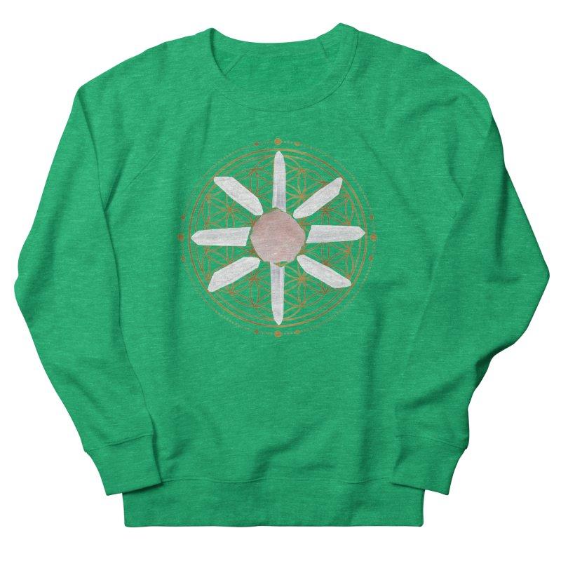 Flower of Life Love Crystal Grid Women's Sweatshirt by Crystalline Light