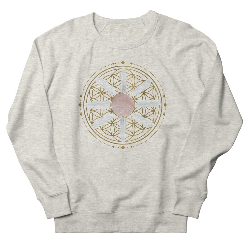 Flower of Life Love Crystal Grid Women's French Terry Sweatshirt by Crystalline Light