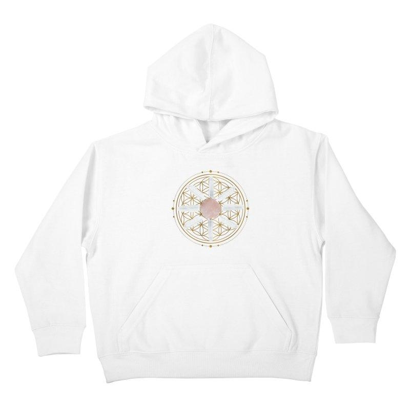Flower of Life Love Crystal Grid Kids Pullover Hoody by Crystalline Light