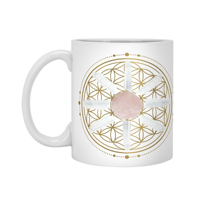 Flower of Life Love Crystal Grid Accessories Mug by Crystalline Light