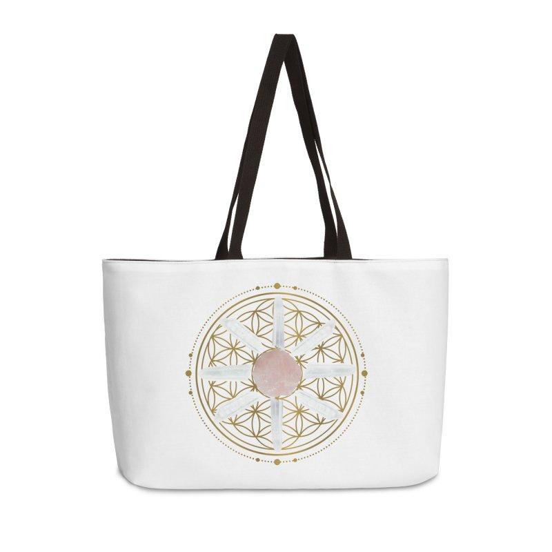 Flower of Life Love Crystal Grid Accessories Weekender Bag Bag by Crystalline Light
