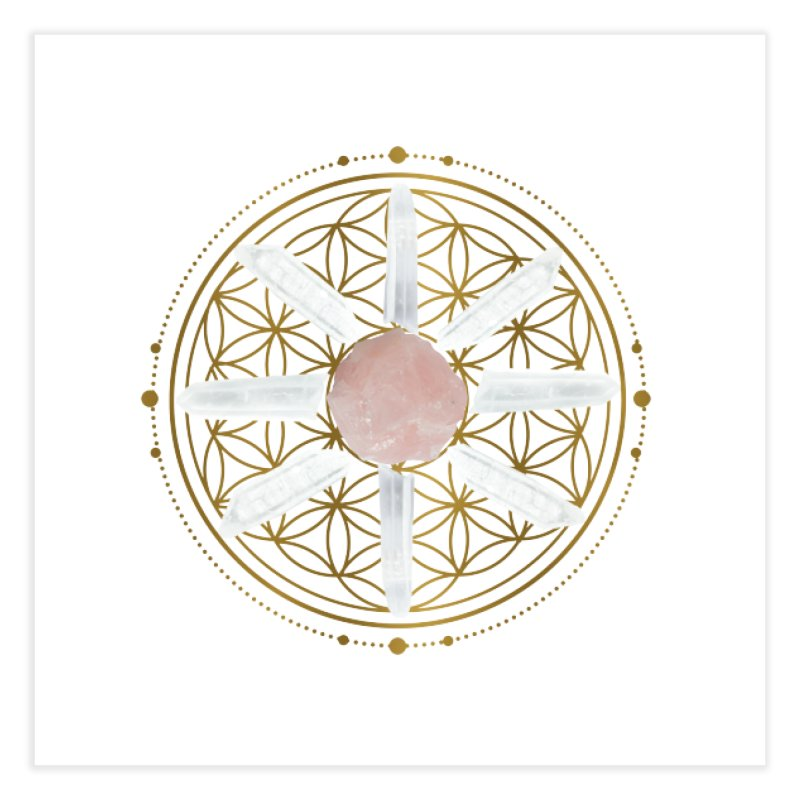 Flower of Life Love Crystal Grid Home Fine Art Print by Crystalline Light