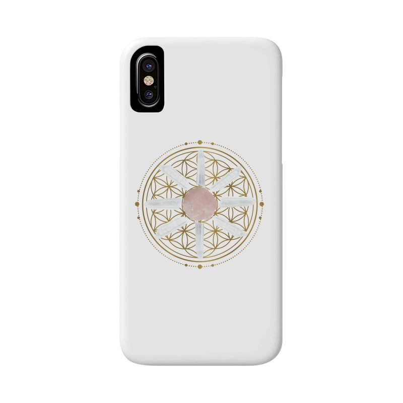 Flower of Life Love Crystal Grid Accessories Phone Case by Crystalline Light