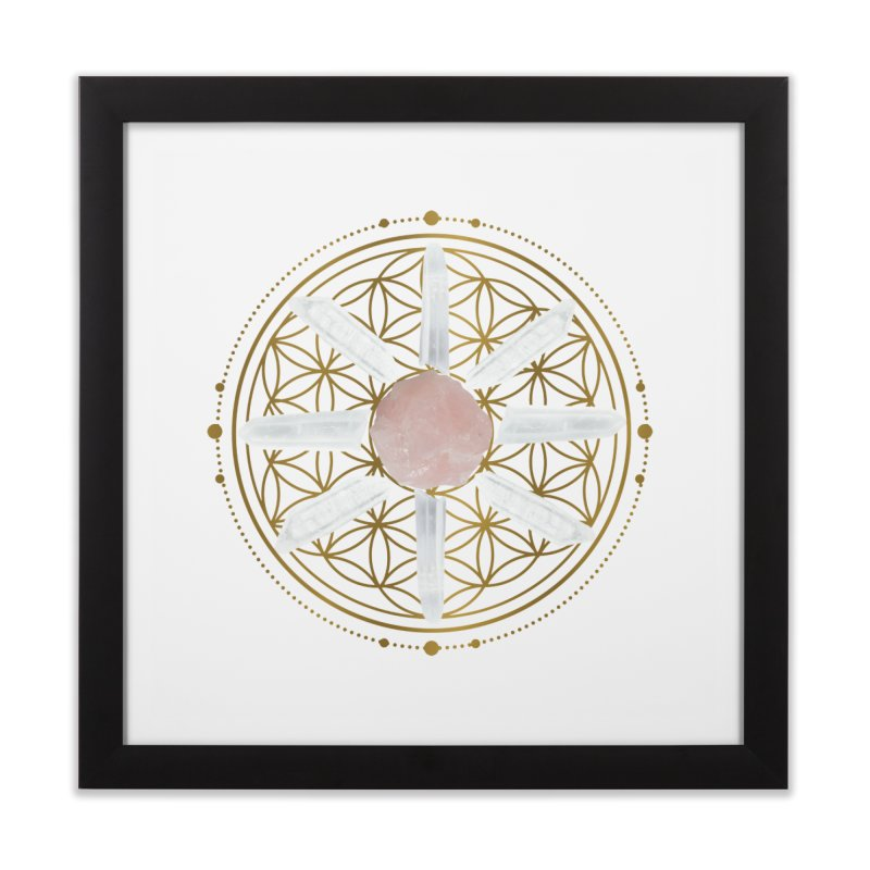 Flower of Life Love Crystal Grid Home Framed Fine Art Print by Crystalline Light