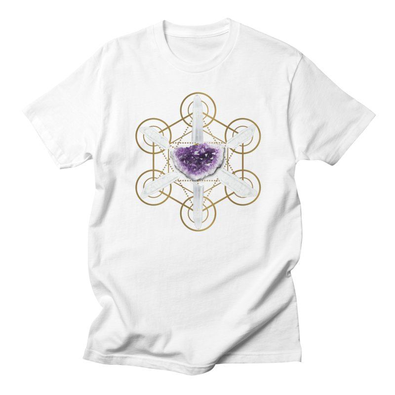 Metatron Spiritual Crystal Grid Men's T-Shirt by Crystalline Light