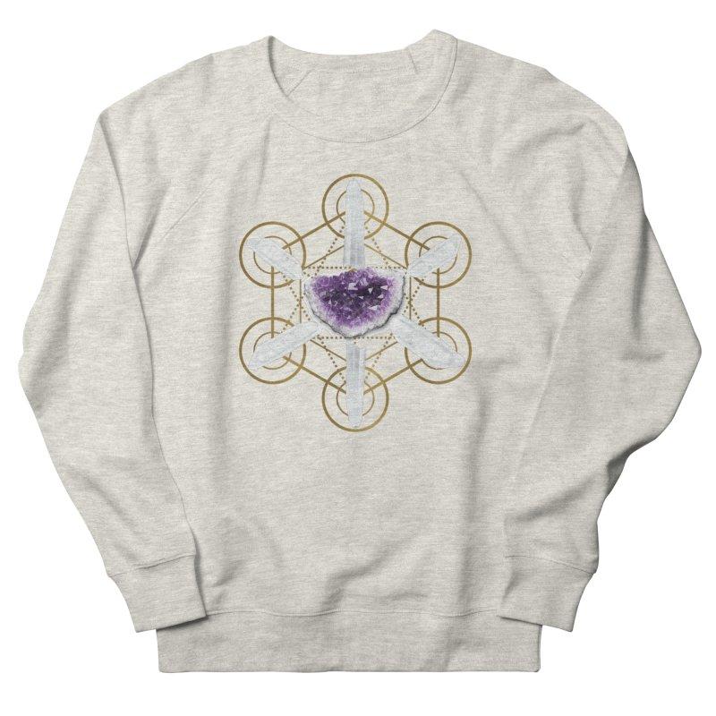 Metatron Spiritual Crystal Grid Women's Sweatshirt by Crystalline Light