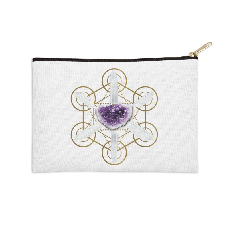 Metatron Spiritual Crystal Grid Accessories Zip Pouch by Crystalline Light