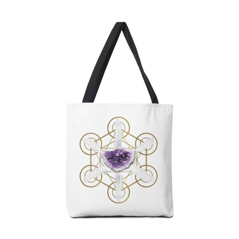 Metatron Spiritual Crystal Grid Accessories Tote Bag Bag by Crystalline Light
