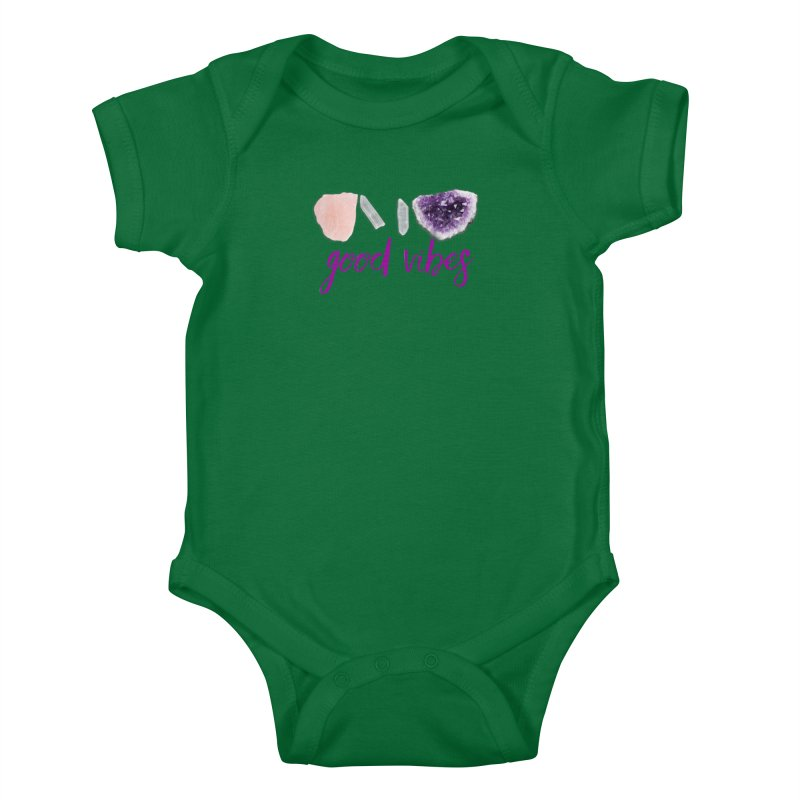 Good Vibes Kids Baby Bodysuit by Crystalline Light