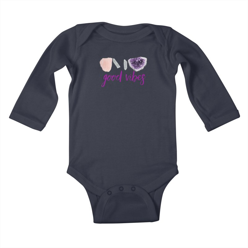 Good Vibes Kids Baby Longsleeve Bodysuit by Crystalline Light