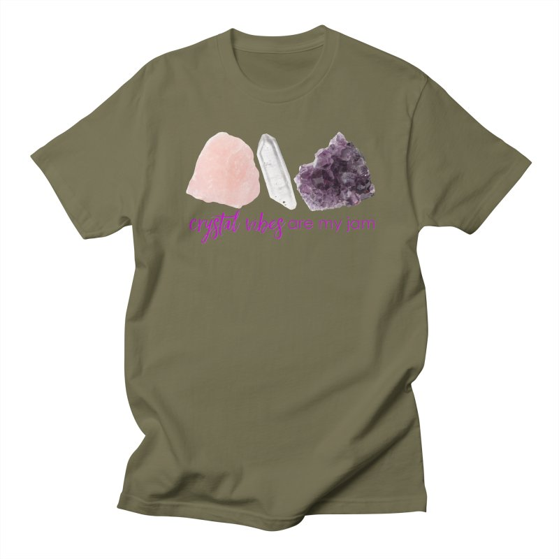 Crystal Vibes are My Jam Men's T-Shirt by Crystalline Light