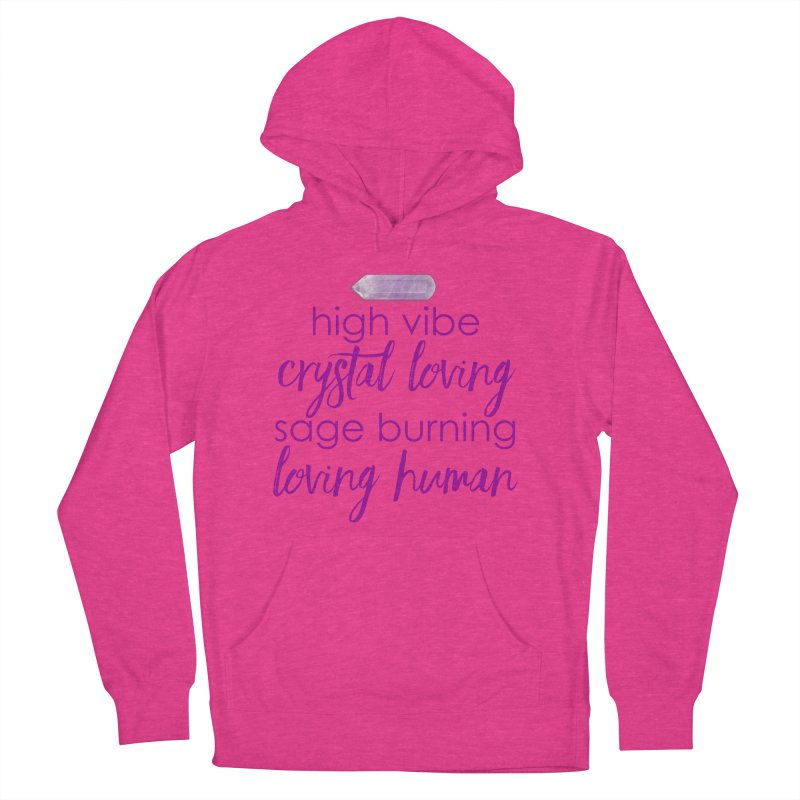 High Vibe Crystal Loving Men's French Terry Pullover Hoody by Crystalline Light