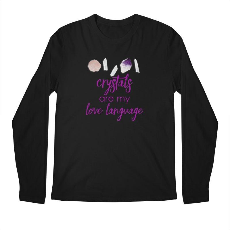 Crystals Are My Love Language Men's Regular Longsleeve T-Shirt by Crystalline Light