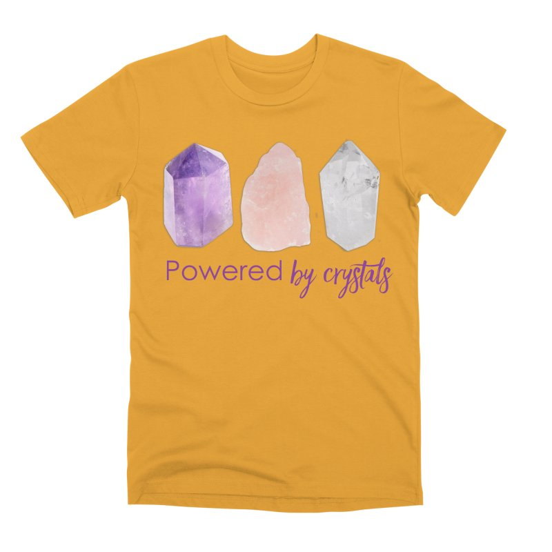 Powered by Crystals Men's Premium T-Shirt by Crystalline Light