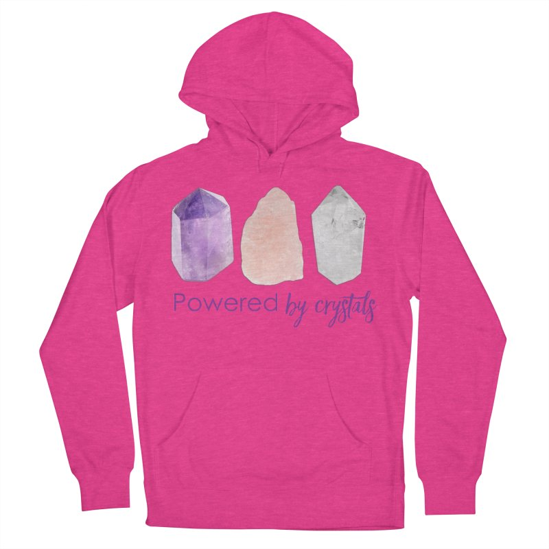 Powered by Crystals Women's French Terry Pullover Hoody by Crystalline Light