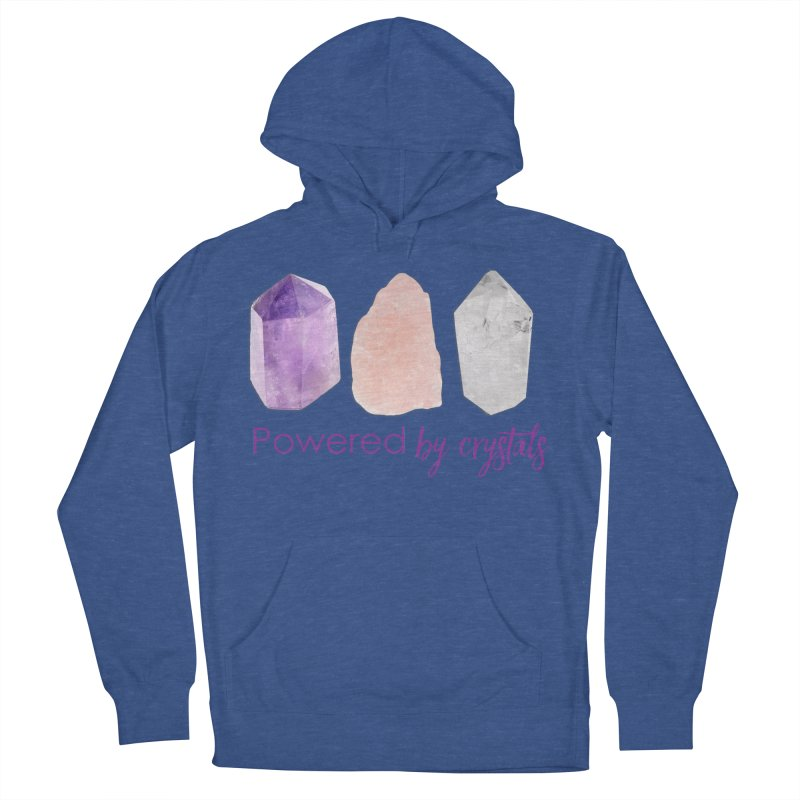 Powered by Crystals Men's French Terry Pullover Hoody by Crystalline Light