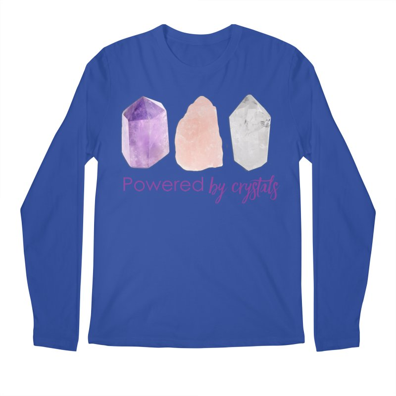 Powered by Crystals Men's Regular Longsleeve T-Shirt by Crystalline Light