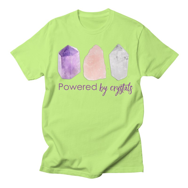 Powered by Crystals Men's Regular T-Shirt by Crystalline Light