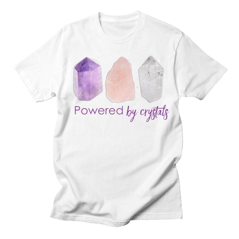 Powered by Crystals Women's Regular Unisex T-Shirt by Crystalline Light
