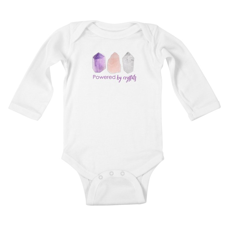 Powered by Crystals Kids Baby Longsleeve Bodysuit by Crystalline Light