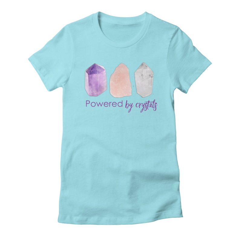 Powered by Crystals Women's Fitted T-Shirt by Crystalline Light