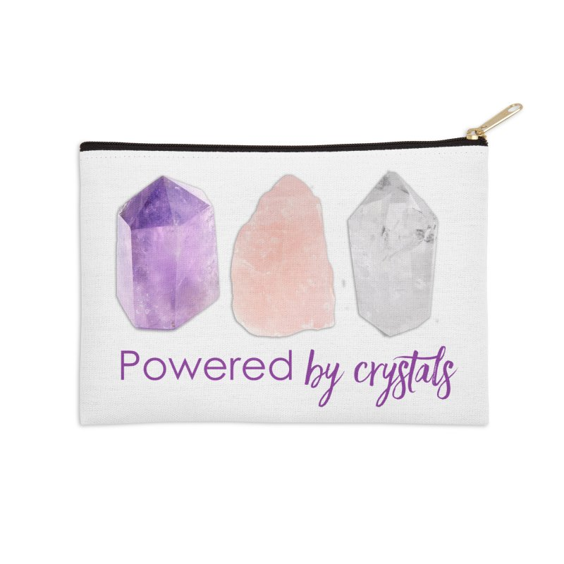 Powered by Crystals Accessories Zip Pouch by Crystalline Light