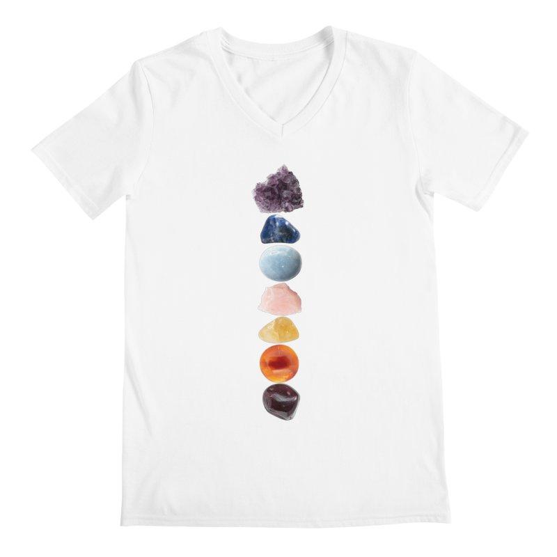 Chakra Balance Men's V-Neck by Crystalline Light